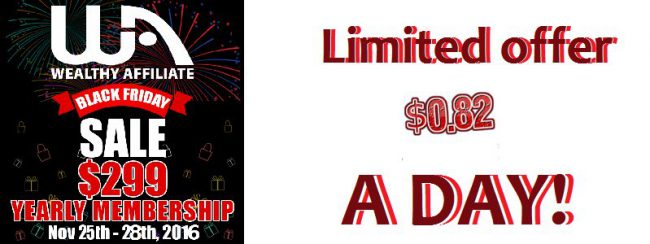 Wealthy Affiliate Black Friday Sale