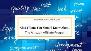 The Amazon Affiliate Program
