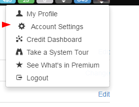 account settings WA