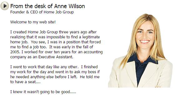 Anne Wilson Home Job Group