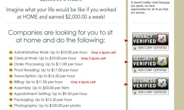 job offers home job group