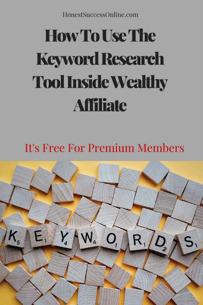 How To Use The Keyword Research Tool Inside Wealthy Affiliate