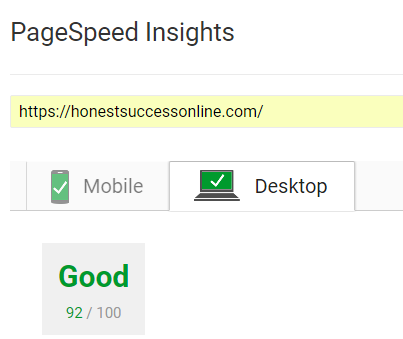 page speed insights HSO