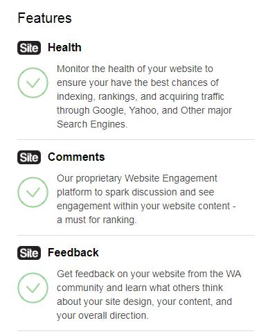 features in SiteRubix
