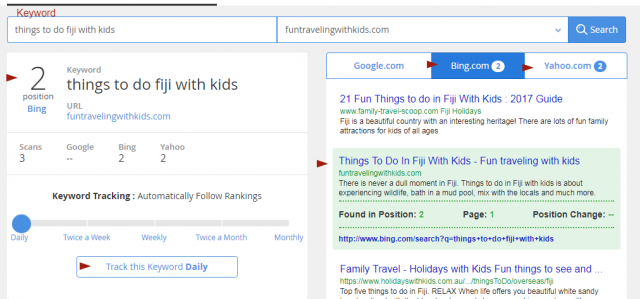example for keyword ranking with Jaxxy feature