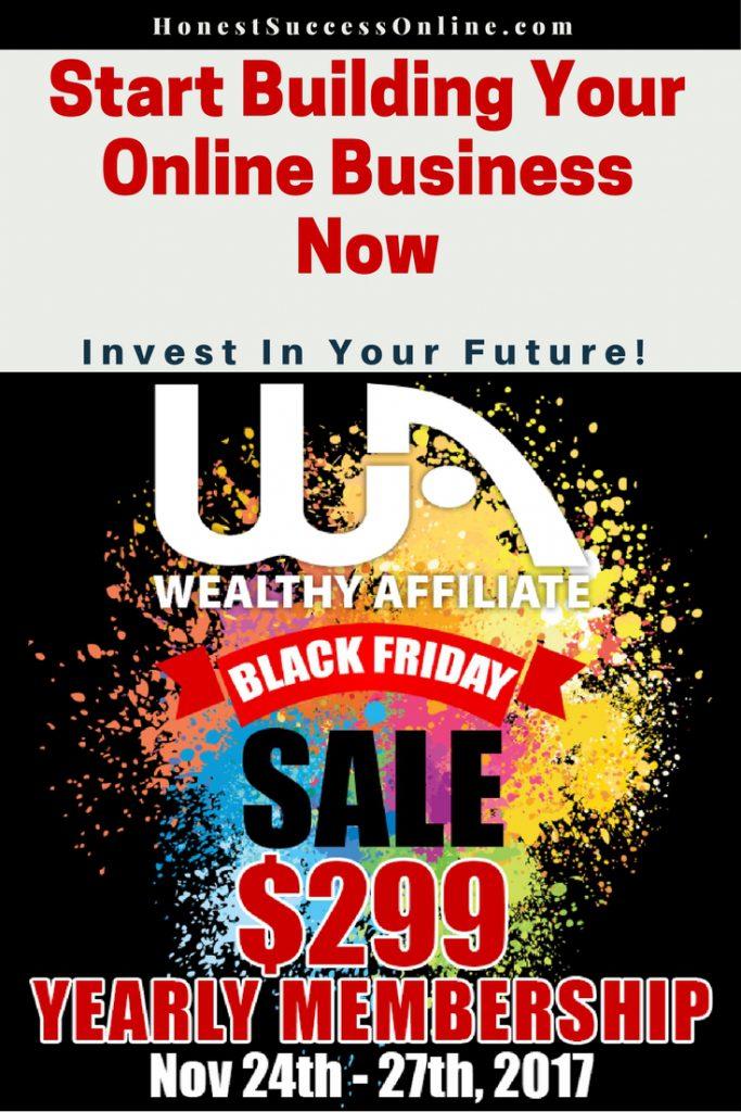 Black Friday Sale 2017 Wealthy Affiliate