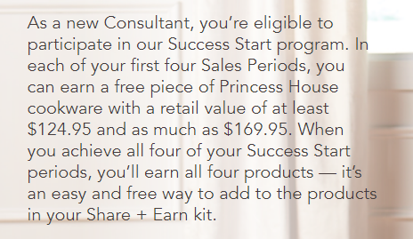bonus for sales consultants princess house