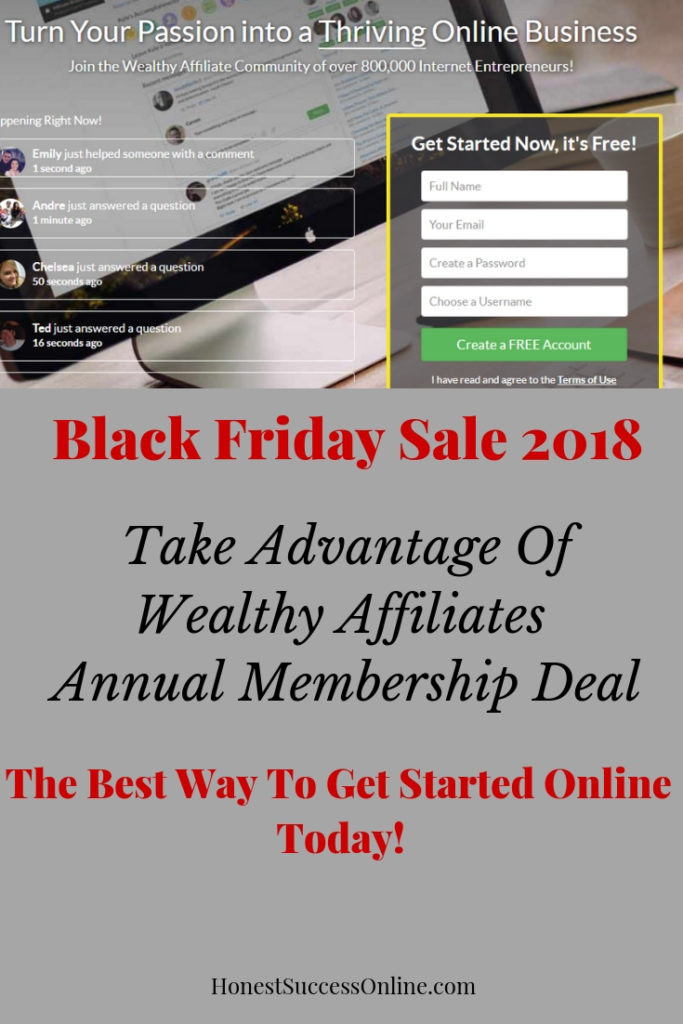 Black Friday Sale 2018 Wealthy Affiliate