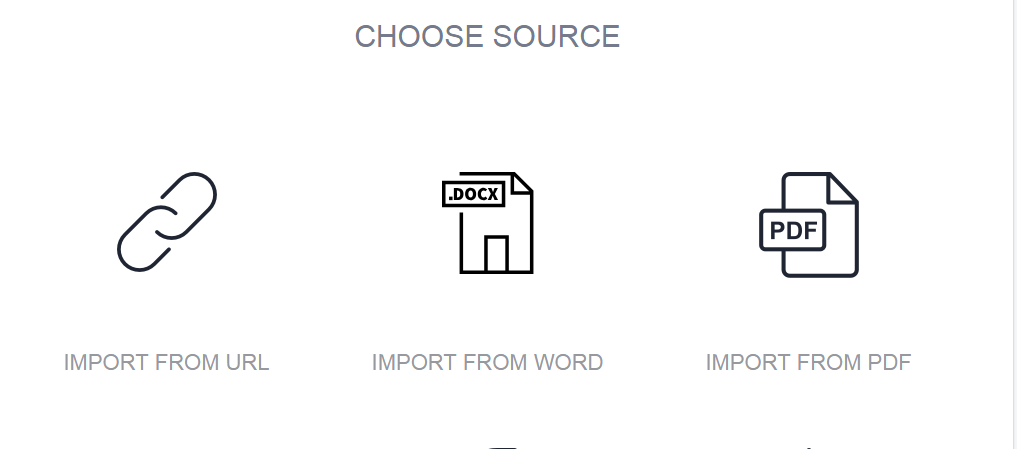 designrr choose source