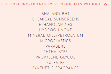 ever ingredients