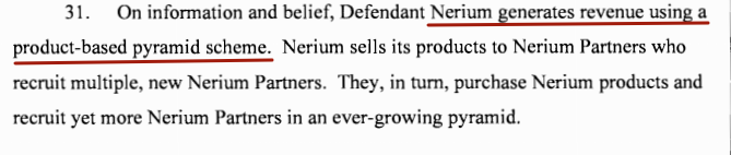 nerium lawsuit pyramid scheme