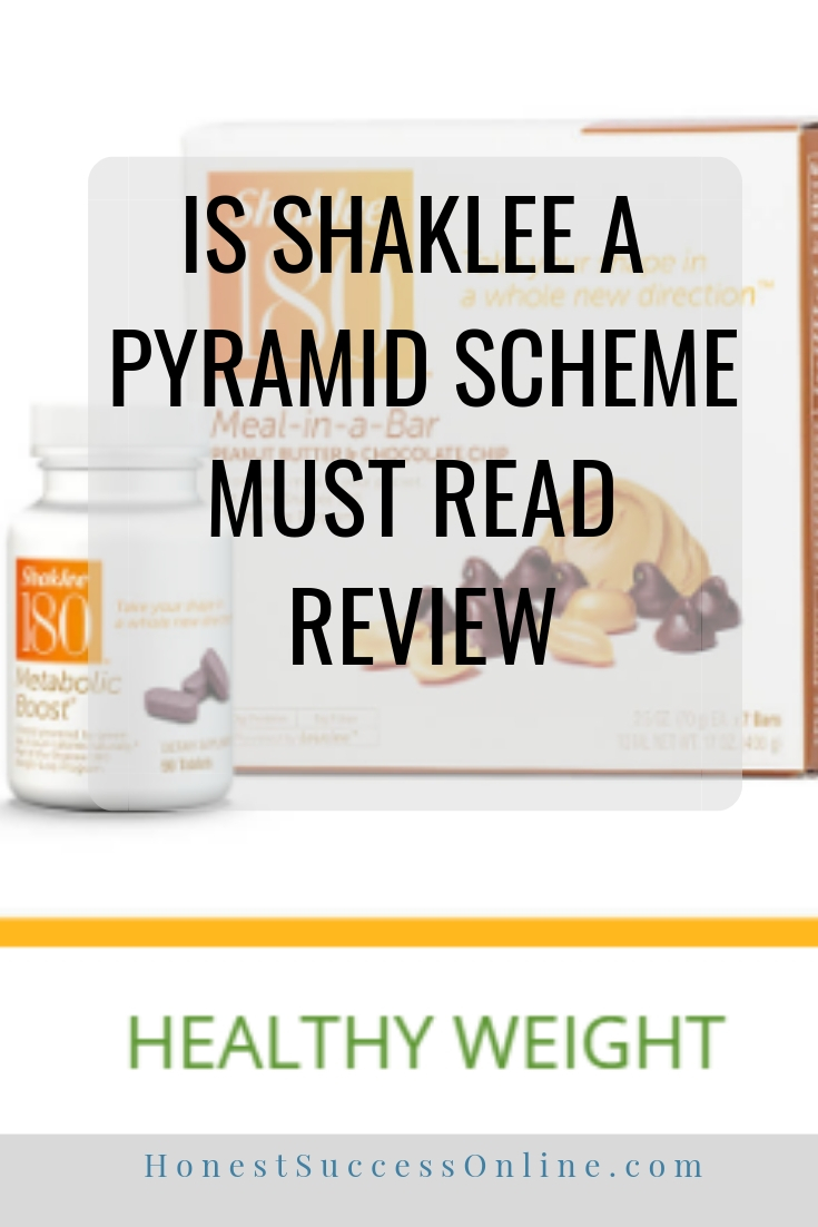 is shaklee a pyramid scheme