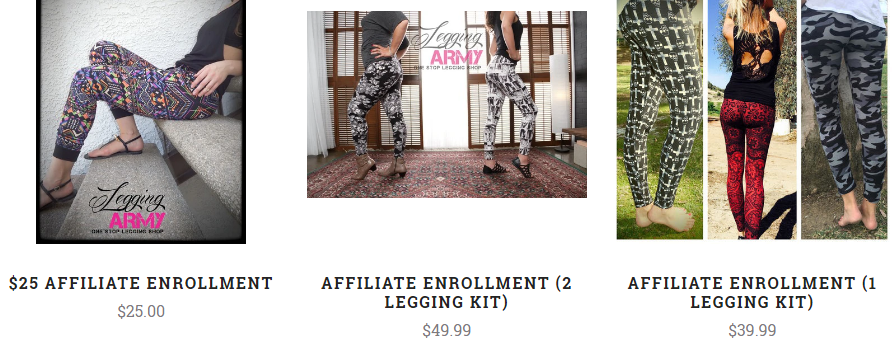 legging army enrollment