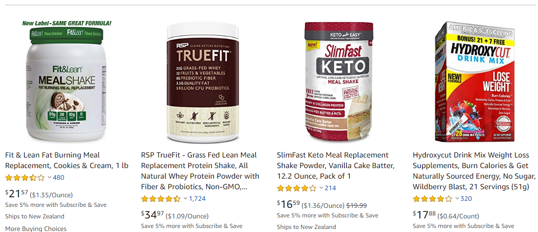 amazon weight loss products