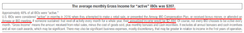 amway income