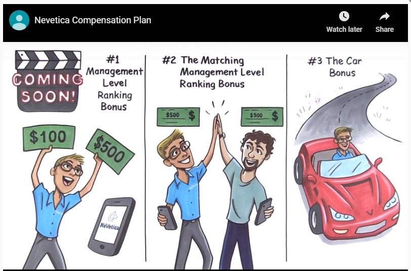 nevetica compensation plan