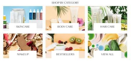 tropic skin care product range