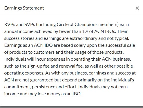 acn earning statement